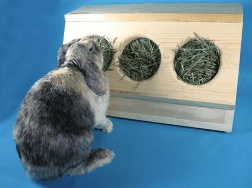 rabbit hay feeder
